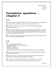 Formatives questions CH 3