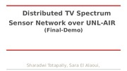 Presentation- Distributed TV Spectrum Sensor Network
