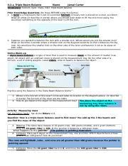 Triple Beam Balance Worksheet