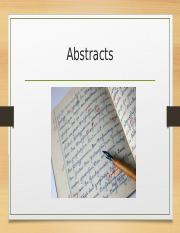 abstracts.ppt