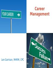 Career Mgmt - Exam 1 .pptx