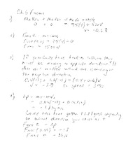 Elastic Collisions Notes and Solutions