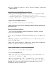 Study Guide for Blue Book Essay test#1 UCSD