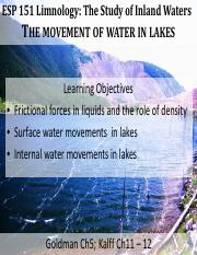 06-07- ESP151 Lecture Water Movement in lakes (1)