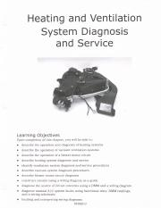 Ch 5 - Heating and Ventilation System Diagnosis and Service