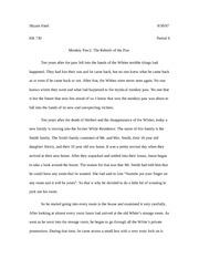 the metamorphosis essay