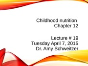 lecture 19 2015Chapter10 child nutrition_post_r1