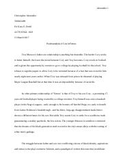 Comp II Paper 2 Drama Rough Draft.odt