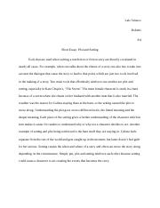 Roberts Setting and plot essay