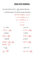 Quiz 14 Solution NEW
