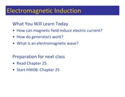 Class 103 - Electromagnetic Induction (1)