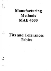 Fits and Tolerances Table