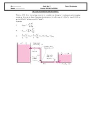 Quiz 7 2010 Solution on Intermediate Mechanics of Fluids