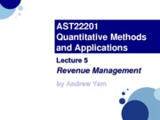 AST22201 - Lec05.Revenue Management