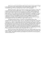 Bill of rights essays