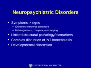 Lecture 15 - Mood (Affective) Disorders