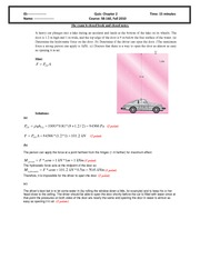 Quiz 2 2010 Solution on Intermediate Mechanics of Fluids