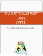 Chapter 1 Using Music to Enhance Student Learning