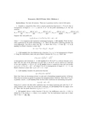 Midterm 1 Answers Econ326 Winter 2014