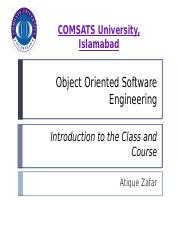 System Design Activities Pptx Comsats University Islamabad Object Oriented Software Engineering System Design Activities Atique Zafar An Overview Of Course Hero