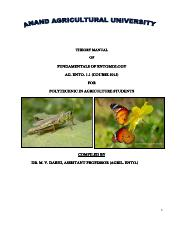 Final note ento 1.1 fundamental of entomology