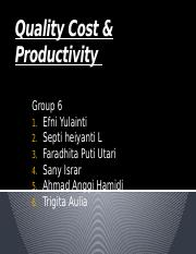 Quality Cost & Productivity KLP 6.pptx