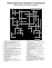 Reproductive Crossword