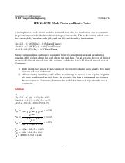 HW #3 - Mode Choice and Route Choice-Answer.pdf