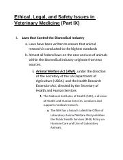 Ethical, Legal, and Safety Issues in Veterinary Medicine (Part IX).docx