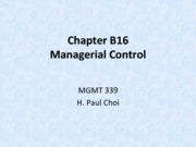 Chapter B16: Managerial Control