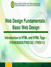 Module 2 - Introduction to HTML
