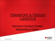 6-Overview of Transport Providers- Maritime-Sea & Pipeline