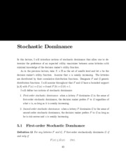 stochastic dominance notes