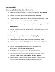 Reviewing the Basics Questions Chapter 5