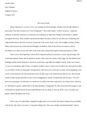 Essay #1 _ _The Great Gatsby_ by F. Scott Fitzgerald.docx
