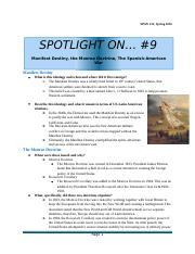 Spotlight on...#9- Manifest Destiny, the Monroe Doctrine, and the Spanish-American War.docx