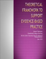 NR501_RodriguezJ_Theoretical Framework to Support Evidence-based Practice.ppt