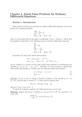 Ch4 Initial Value Problems for Ordinary Differential Equations