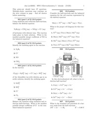HW11 Electrochemistry I-problems