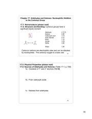 Chem 220b_Lecture Notes on Aldehydes and Ketones - Nucleophilic Addition to the Carbonyl Group