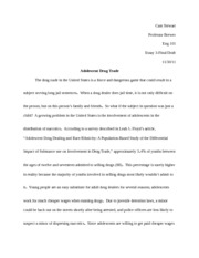 Essay on substance abuse in adolescence