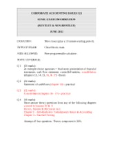Final Exam Format June 2012 All