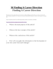 Assignment 12- Finding A Career Direction