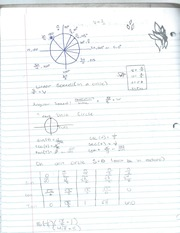 Algebra 2 Unit Circle notes