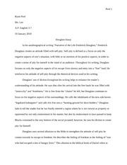 Fredrick Douglas Essay help!?