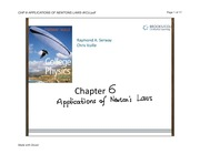 CHP 6-APPLICATIONS OF NEWTONS LAWS-IKCU