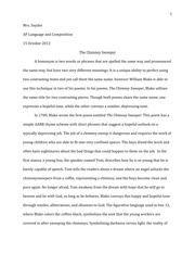 The chimney sweeper essay