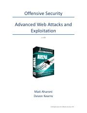 awae-syllabus pdf - Offensive Security Advanced Web Attacks