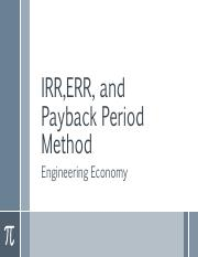 IRR, ERR and Payback.pdf