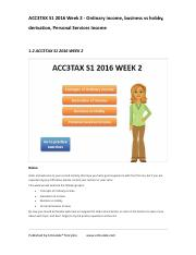 ACC3TAX S1 2016 Week 2 - Ordinary income, business vs hobby, derivation, PSI.pdf